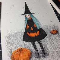 Pumpkin Dress by Naisa Gomez.