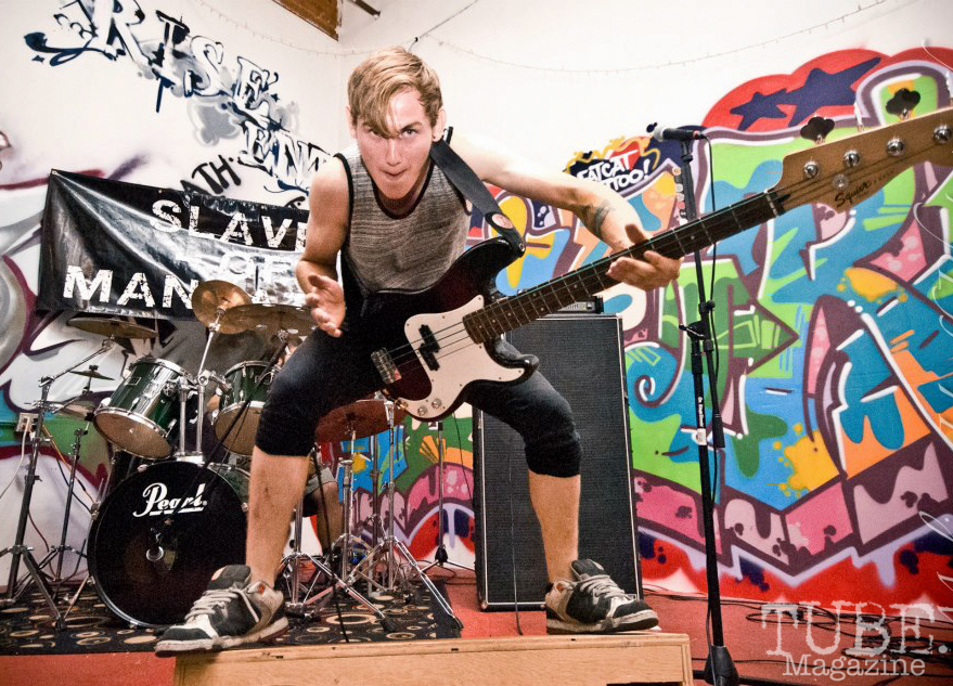 Slaves of Manhattan playing at Marrujo's first venue, The Where House?. Sacramento CA August 2012 Photo Melissa Uroff