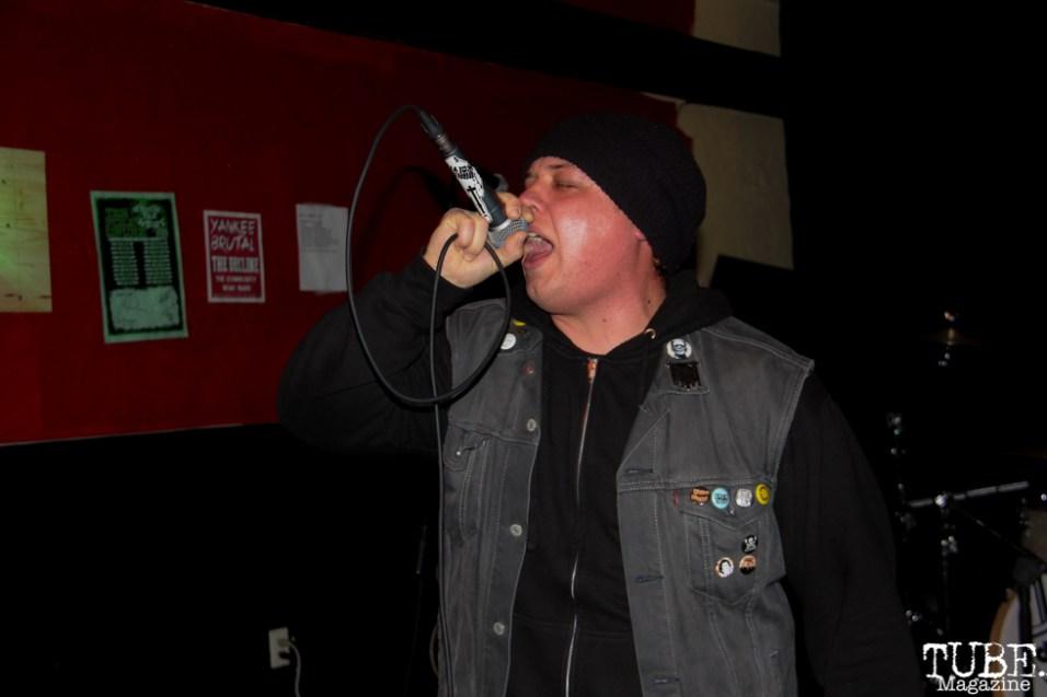 Singer Jordan Wolf of Urban Wolves, Café Colonial, Sacramento, CA.January 8,2016. Photo Anouk Nexus
