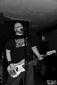 Singer/Bassist Matt Crap of The Moans, Café Colonial, Sacramento, CA.January 8,2016. Photo Anouk Nexus