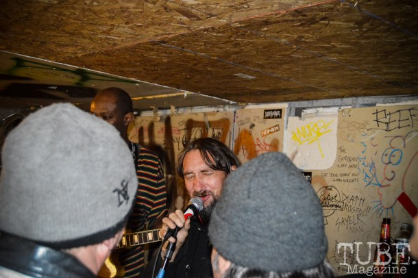Ground Chuck doing guest vocals for the Storytellers at his Benefit show held at Casa de Chaos on January 9, 2016. Photo Vi Mayugba.