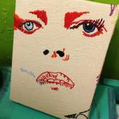 Artwork by Sarah Elliott inspired by line number 11- 'She could spit in the eyes of fools'