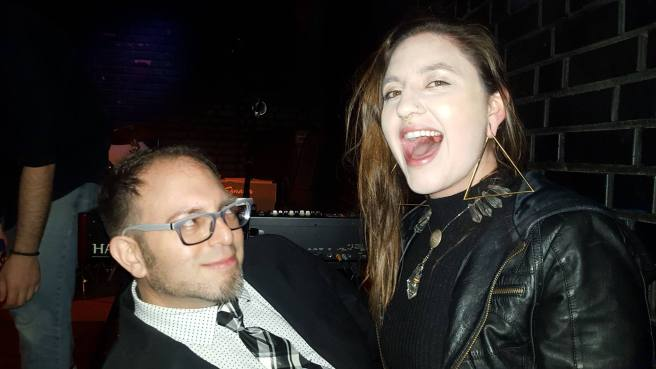 Mig Law and Jessica Carter at the Life On Mars show at the Blue Lamp in Sacramento CA. February 2016. Photo provided my Mig Law.