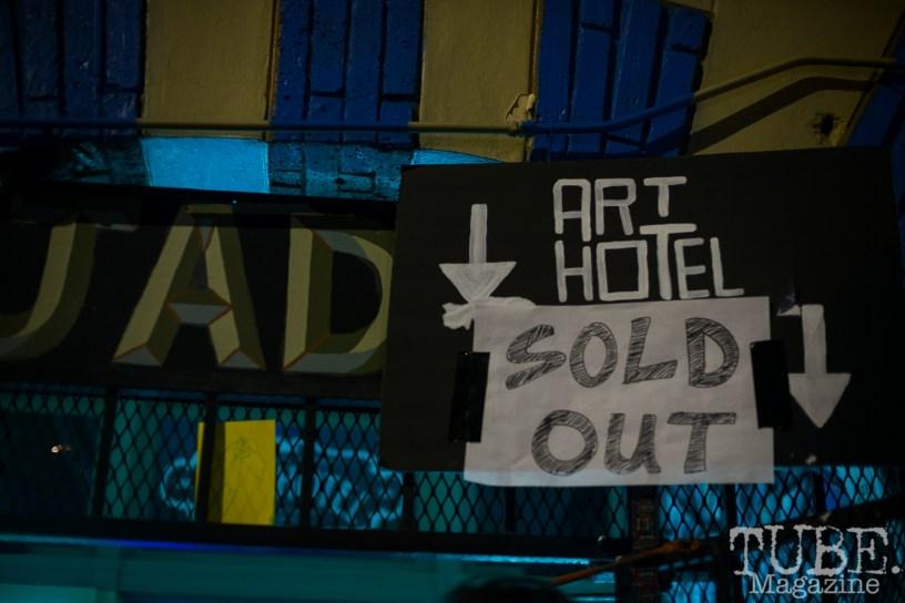 """Sold Out"" Art Hotel, Sacramento CA, February 2016. Photo Melissa Uroff"
