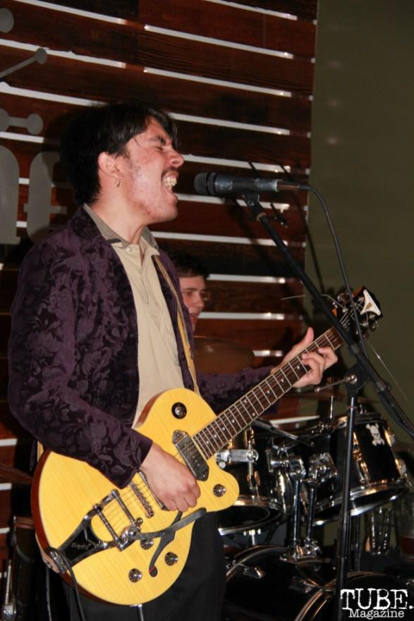 NoahCampos guitarist/singer for The Bottom Feeders, Shine Cafe, Sacramento, CA.March 11,2016. Photo Anouk Nexus