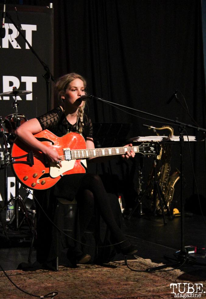 Sydney Jones singing ike an angel at the Crocker Art Museum, Sacramento, CA.March 10,2016. Photo Anouk Nexus