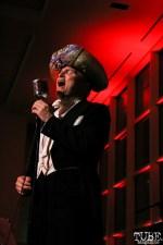 Peter Petty singing at the TUBE. ArtMix Vaudeville at the Crocker in Sacramento, Ca. March 2016. Photo Anouk Nexus