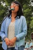 AJ Urbano Backup Singer of Current Personae, Cesar Chavez Park, Sacramento, CA. May 6th, 2016. Photo Anouk Nexus
