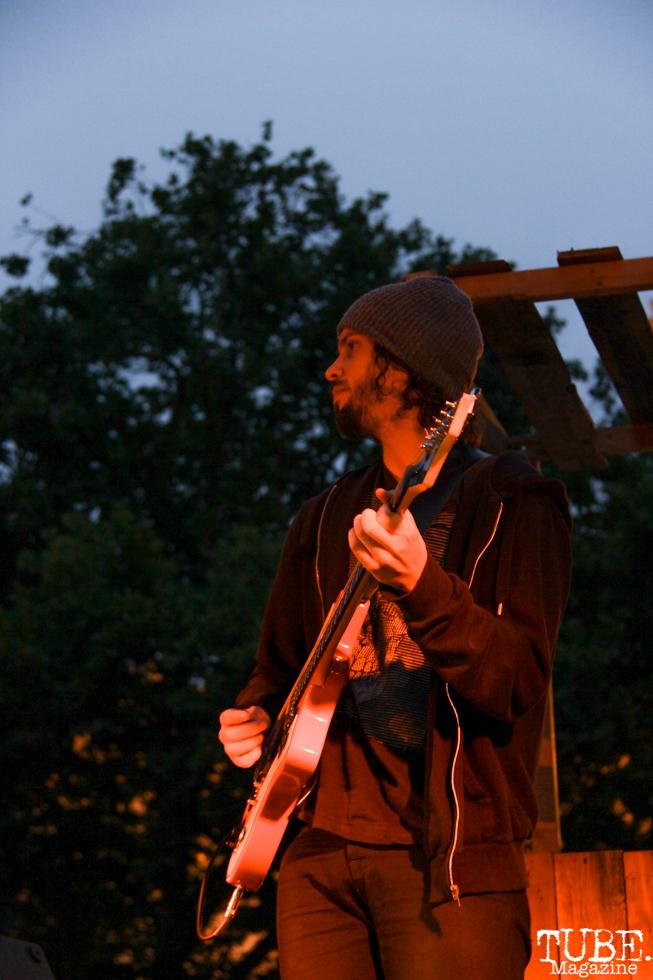 Richie Smith Guitarist of James Cavern, Cesar Chavez Park, Sacramento, CA. May 6th, 2016. Photo Anouk Nexus