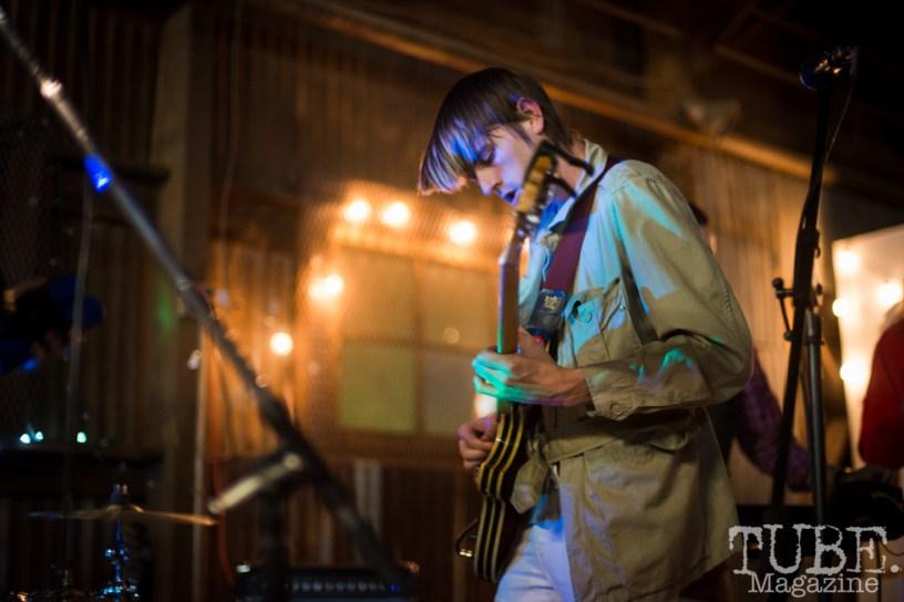 Sam Eliot of Duke Chevalier playing at The Panama Art Factory. April 30, 2016. Photo Melissa Uroff