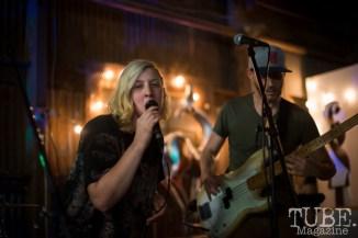 Alexandra Steele of the Sunmonks playing at The Panama Art Factory. April 30, 2016. Photo Melissa Uroff