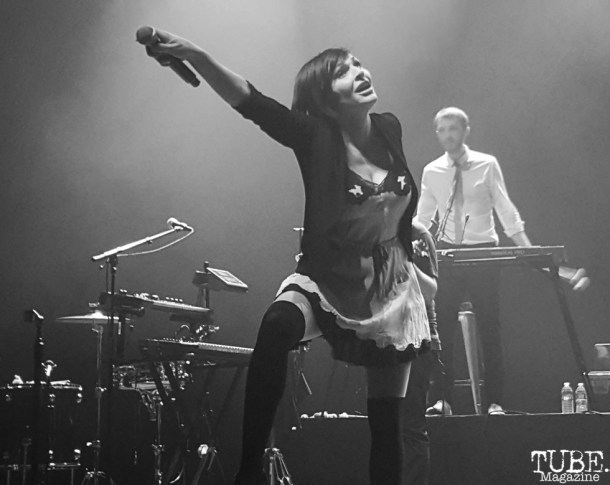 Caravan Palace singer, Zoé Colotis, Fox Theater, Oakland, CA. June 8, 2016. Photo Anouk Nexus