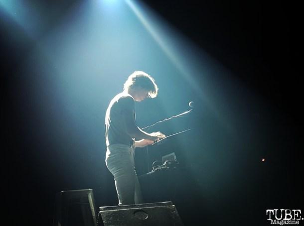 Multi-instrumentalist, Arnaud Vial on keyboards, Fox Theater, Oakland, CA.June 8,2016. Photo Anouk Nexus