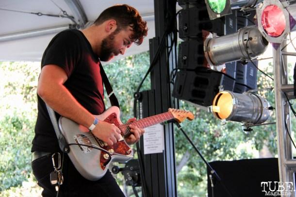 Barry Crider guitarist of NMBRSTTN, Concerts in the Park, Cesar Chavez Park, Sacramento, CA. June 3, 2016, Photo Anouk Nexus
