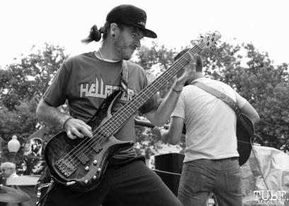 The Good Samaritans bassist, Joshua Harris, Concerts in the Park, Cesar Chavez Park, Sacramento, CA. June 17, 2016. Photo Anouk Nexus