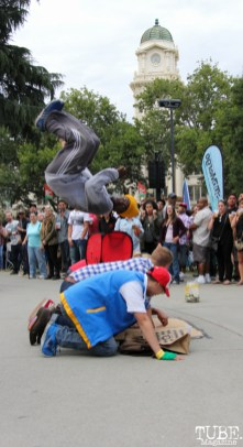 JimNTim dancer, Timothy Joseph, Concerts in the Park, Cesar Chavez Park, Sacramento, CA. June 17, 2016. Photo Anouk Nexus