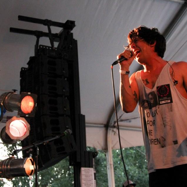 Donovan Melero singer of Hail the Sun, Concerts in the Park, Cesar Chavez Park, Sacramento, CA. June 3, 2016, Photo Anouk Nexus