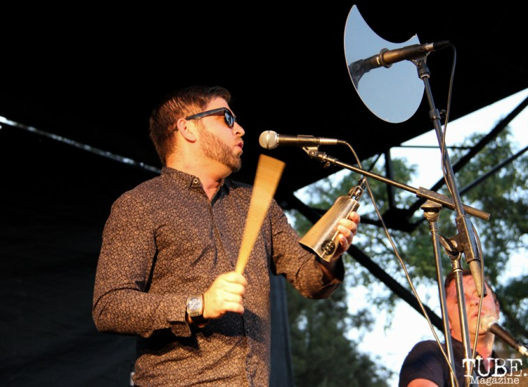 Trumpet/Percussion/Backup Vocals Ryan Scott of Monophonics, Davis Community Park, Davis, CA. July 4, 2016. Photo Anouk Nexus