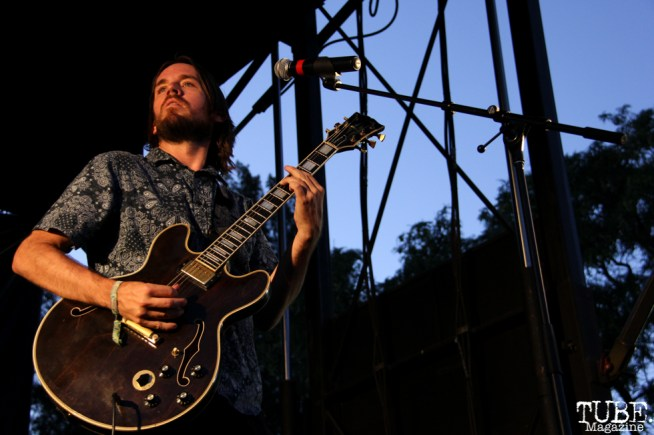 Guitarist/Backup Vocals Vocals Ian McDonald of Monophonics, Davis Community Park, Davis, CA. July 4, 2016. Photo Anouk Nexus