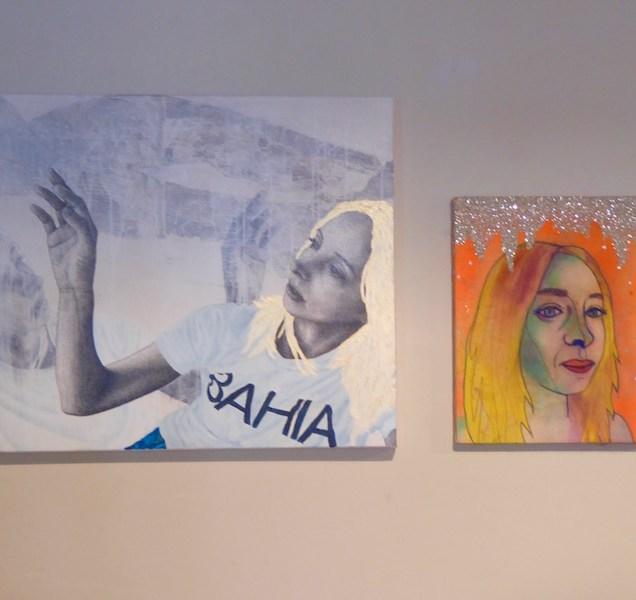'Licorice' by Bryan Valenzuela (left) 'Ziggy Iggy Mizzy' by Gioia Fonda (Right)