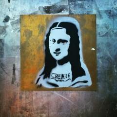 Mona Lisa stencil, Artist Unknown, 19th and L