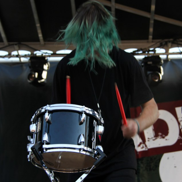 Vocalist Danny Stills of 888, City of Trees, Bonney Field, Sacramento, CA. September 10, 2016. Photo Anouk Nexus