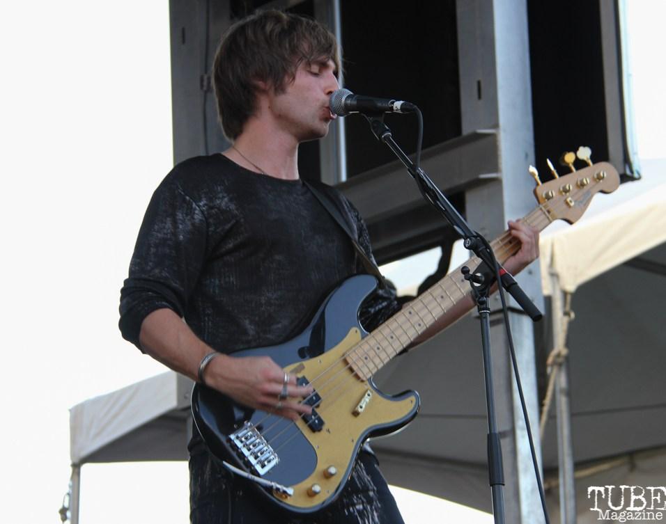 Bassist Jed Elliott of The Struts, City of Trees, Bonney Field, Sacramento, CA. September 10, 2016. Photo Anouk Nexus