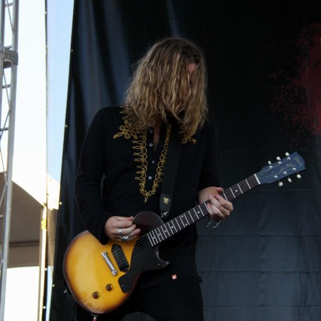 Guitarist Addo Slack of The Struts, City of Trees, Bonney Field, Sacramento, CA. September 10, 2016. Photo Anouk Nexus