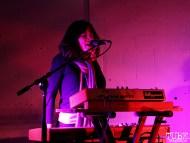 Peggy Lanza vocalist/keyboardist of Bellygunner, Red Museum, Sacramento, CA. December 07, 2016. Photo Anouk Nexus
