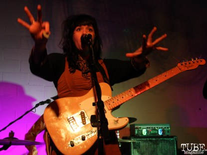 Natalie Ribbons vocalist/guitarist of Tele Novella, Red Museum, Sacramento, CA. December 07, 2016. Photo Anouk Nexus