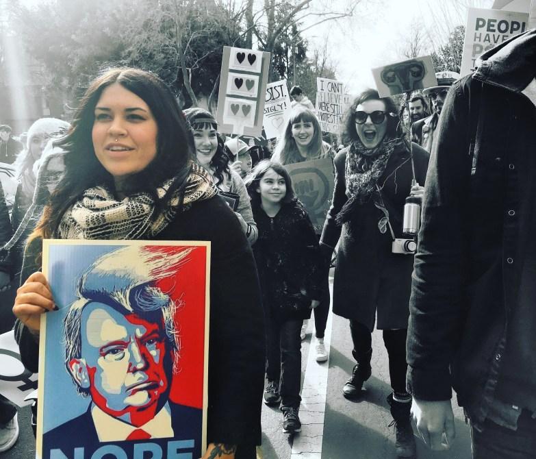 Sara Harris, Woman's March Sacramento, January 21, 2017. Photo Joey Miller