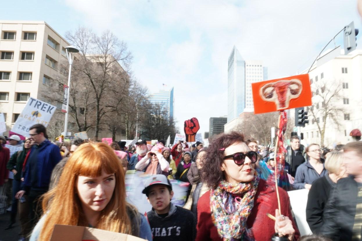 Woman's March Sacramento, January 21, 2017. Photo Joey Miller