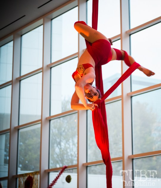 Sac Cirque performing at Vintage Swank ArtMix, Crocker Art Museum, March 2017. Photo Melissa Uroff