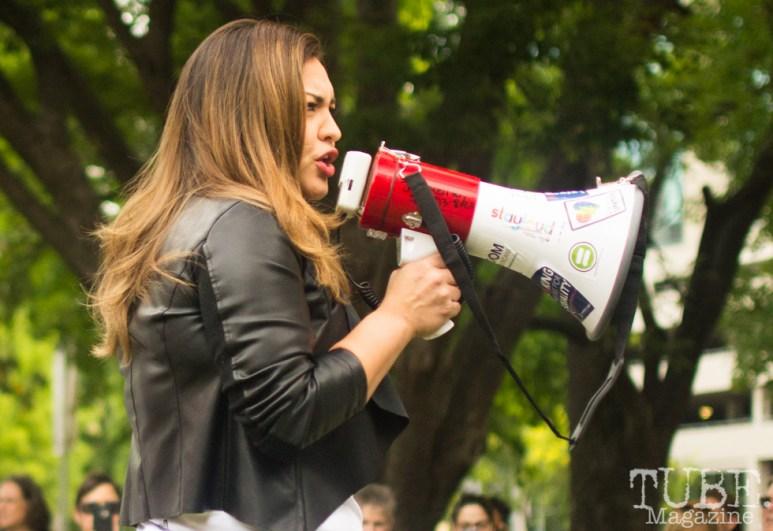 Rosa Calderon, 2018 Congressional Candidate. Sacramento Pride Festival, Sacramento, CA. June 2017. Photo: Dan Tyree