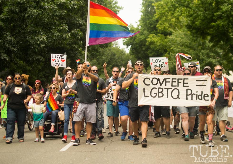 The Tower Bridge Battalion. Sacramento Pride Festival, Sacramento, CA. June 2017. Photo: Dan Tyree