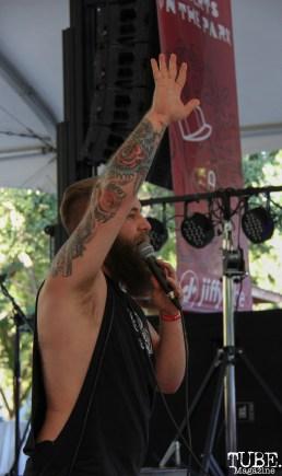 Vocalist Jordan White of Lost Things, Concerts in the Park, Cesar Chavez Park, Sacramento, CA. June 2, 2017. Photo Anouk Nexus