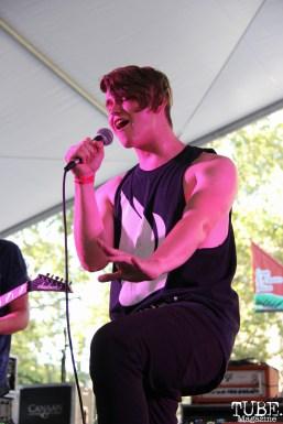 Vocalist Alex Strobaugh of A Foreign Affair, Concerts in the Park, Cesar Chavez Park, Sacramento, CA. June 2, 2017. Photo Anouk Nexus