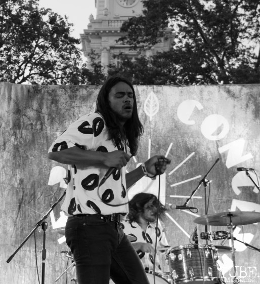 Vocalist Derek Thomas of Vista Kicks, Concerts in the Park, Cesar Chavez Park, Sacramento, CA. June 30, 2017. Photo Anouk Nexus