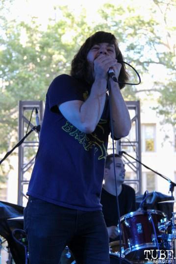 Vocalist Kurt Travis of Eternity Forever, Concerts in the Park, Cesar Chavez Park, Sacramento, CA. June 2, 2017. Photo Anouk Nexus