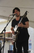 Vocalist/Guitarist Kris Anaya of Doombird, R Street Block Party and Makers Mart, WAL Public Market, Sacramento, CA. June 24, 2017. Photo Anouk Nexus