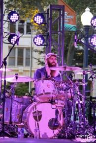 Drummer Matt Mingus of Secret Band, Concerts in the Park, Cesar Chavez Park, Sacramento, CA. June 2, 2017. Photo Anouk Nexus
