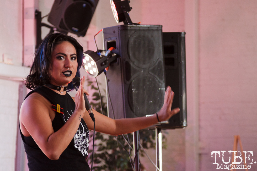 Keyko in Sacramento CA for Ladyfest. July 21, 2017. Photo Cam Evans