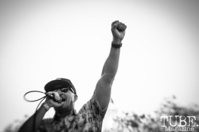 Josh Thompson, from Another Damn Disappointment performs at Concert in the Park in Sacramento Ca. June 2017. Photo Heather Uroff.