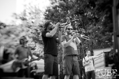 Keith Douglas and Eduardo Hernandez, from the Mad Caddies, performs at Concert in the Park, in Sacramento Ca. June 2017. Photo Heather Uroff.