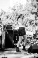 Alexia Roditis, of Destroy Boys jamming at Concert in the Park, in Sacramento Ca. June 2017. Photo Heather Uroff.