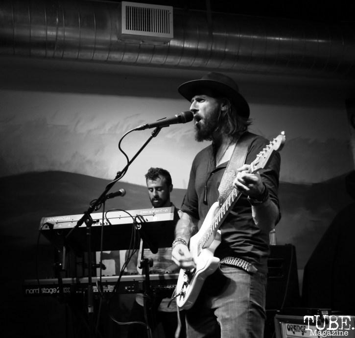 Vocalist Joey Secchiaroli and Bassist Jeff Jarvis of The Reign Of Kindo, Goldfield Trading Post, Sacramento, CA. September 5, 2017. Photo Anouk Nexus