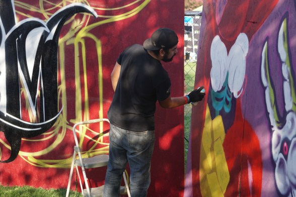 Live Painting supported by HOF Day and Xstreem. Paint donated by Leave your Mark. Photo Joey Miller