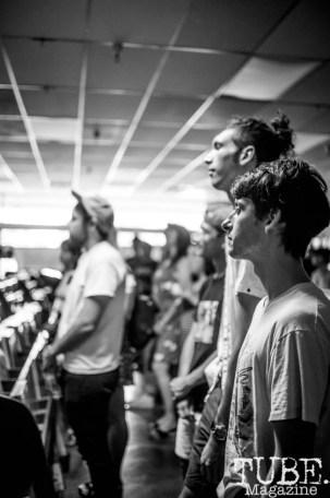 The crowd at Phono Select Records, in Sacramento CA. September 2017. Photo Heather Uroff.