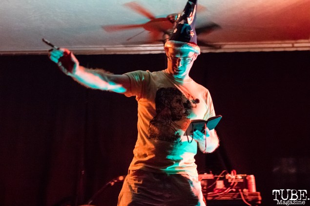 Skrunt Skrunt performing at Norcal Noisefest XXI at Cafe Colonial in Sacramento, CA (10/8/2017). Photo Mickey Morrow