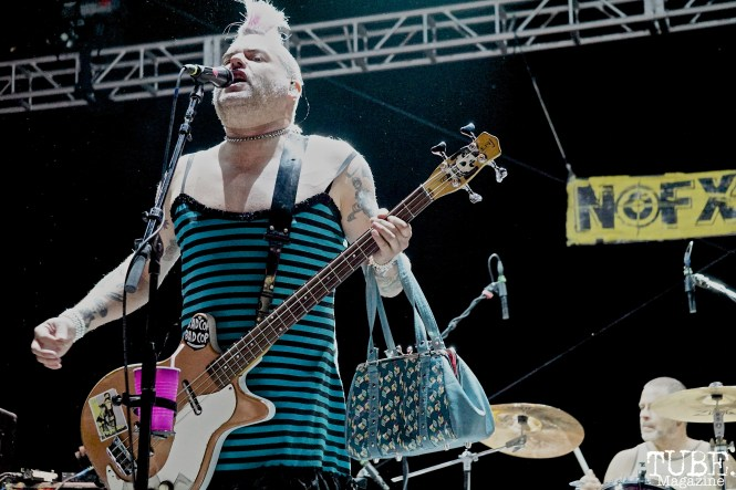 Fat Mike of NOFX, Punk in Drublic Craft Beer and Music Festival at Papa Muphy's Park, Sacramento CA, October 15th 2017. Photo Joey Miller